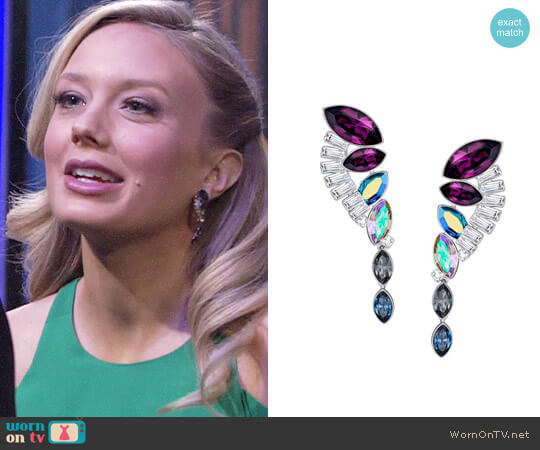 Swarovski Cosmic Pierced Earrings Set worn by Abby Newman (Melissa Ordway) on The Young & the Restless