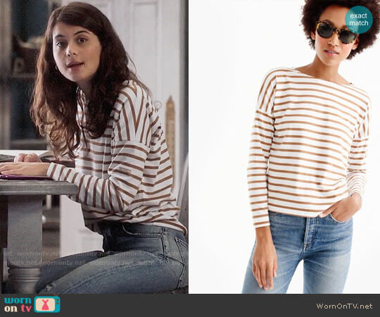 Saint James® for J.Crew Slouchy T-shirt  worn by Sofia Black D'Elia on The Mick