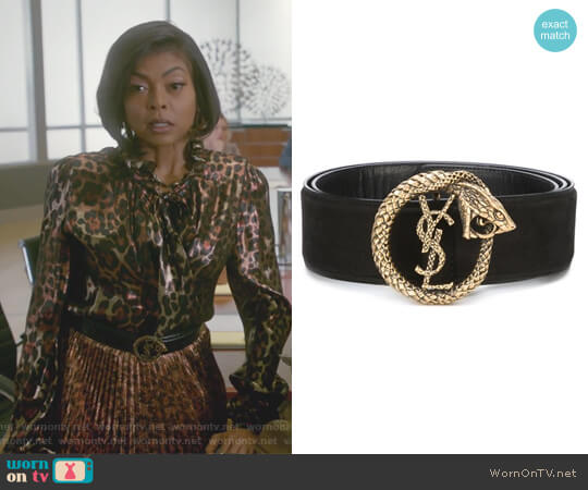 Monogram serpent belt by Saint Laurent worn by Taraji P. Henson on Empire