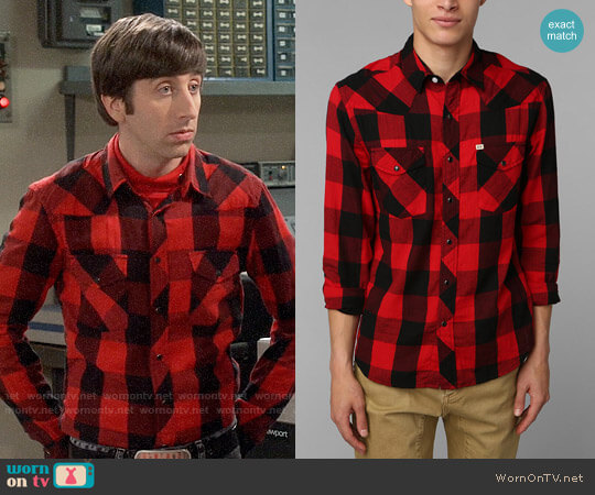 Salt Valley Buffalo Plaid Western Shirt worn by Howard Wolowitz (Simon Helberg) on The Big Bang Theory