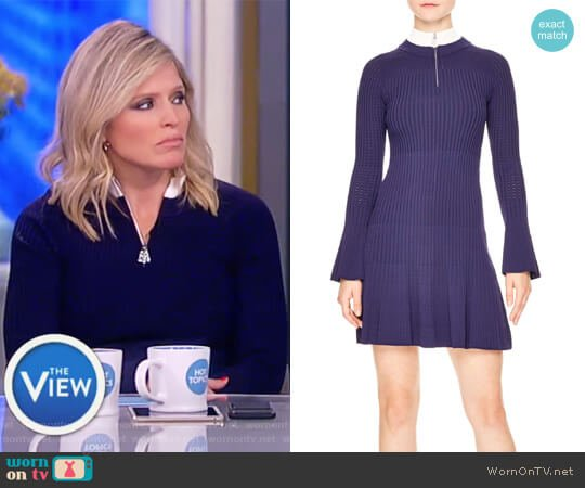 Glacen Jewel Detail Knit Dress by Sandro worn by Sara Haines  on The View