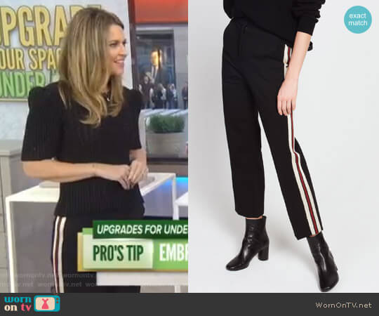 Side Stripe Track Pants by Sandro worn by Savannah Guthrie on Today