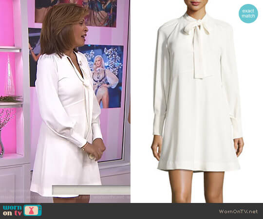 Tie-Neck Long-Sleeves A-Line Dress by See by Chloe worn by Hoda Kotb on Today