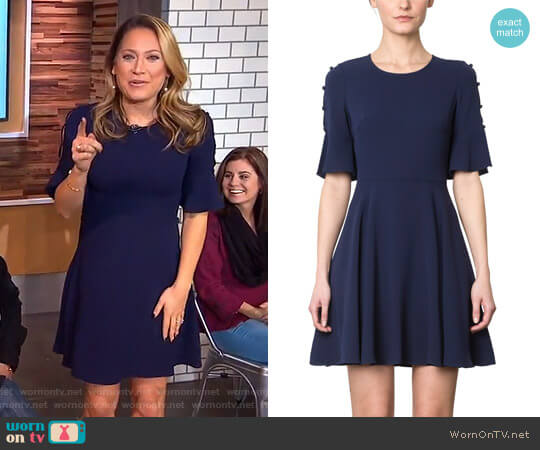 'Raeden' Dress by Shoshanna worn by Ginger Zee on Good Morning America