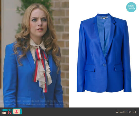 'Ingrid' Blazer by Stella McCartney worn by Elizabeth Gillies on Dynasty