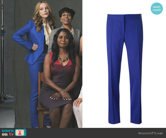 'Mist Anna' Trousers Stella McCartney worn by Elizabeth Gillies on Dynasty