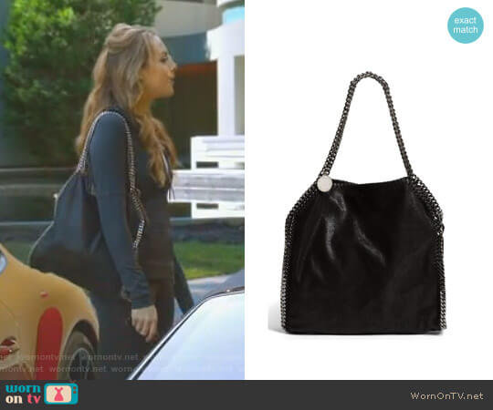 'Falabella' Bag by Stella McCartney worn by Elizabeth Gillies on Dynasty