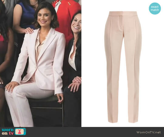 'Anna' Trousers by Stella McCartney worn by Nathalie Kelley on Dynasty