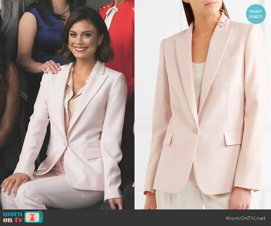 'Ingrid' blazer by Stella McCartney worn by Cristal Flores (Nathalie Kelley) on Dynasty