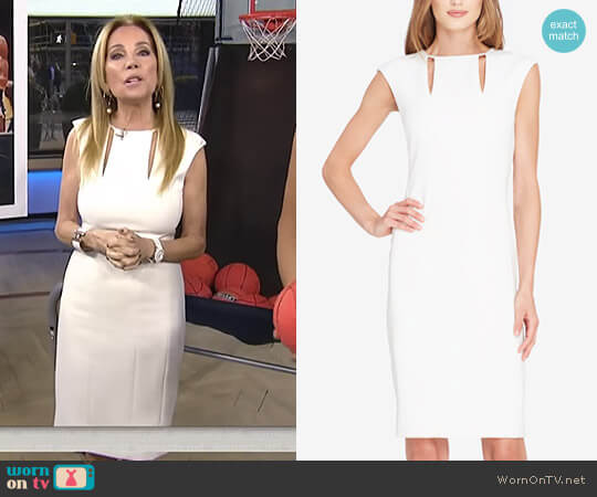 Cutout Sheath Dress by Tahari ASL worn by Kathie Lee Gifford  on Today