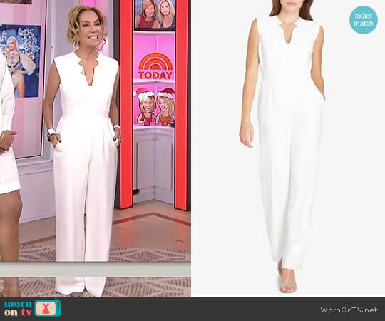 Split-Neck Jumpsuit by Tahari ASL worn by Kathie Lee Gifford on Today