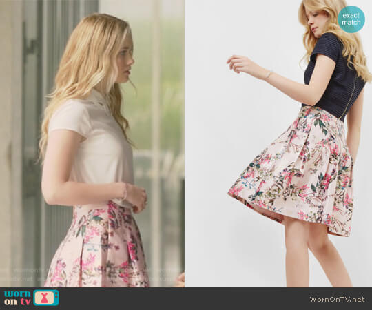 Blossom Jacquard full skirt by Ted Baker worn by Virginia Gardner on Marvels Runaways