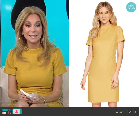 Mod Sheath Dress with Side Zippers by Tahari ASL worn by Kathie Lee Gifford on Today