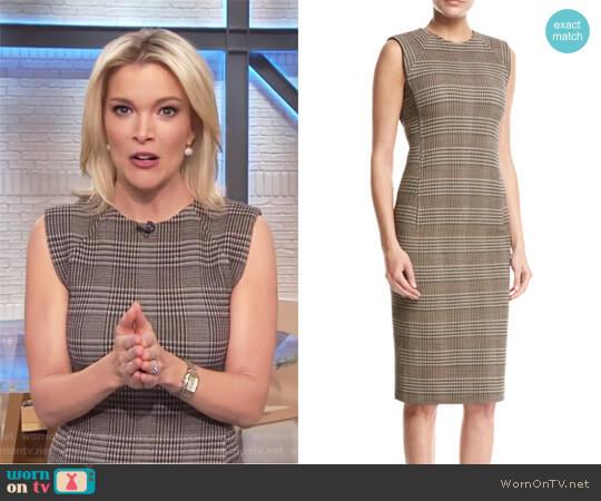 Power Plaid Sheath Dress by Theory worn by Megyn Kelly on Today