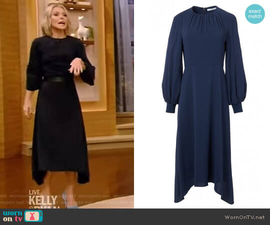 'Savanna' Dress by Tibi worn by Kelly Ripa on Live with Kelly & Ryan
