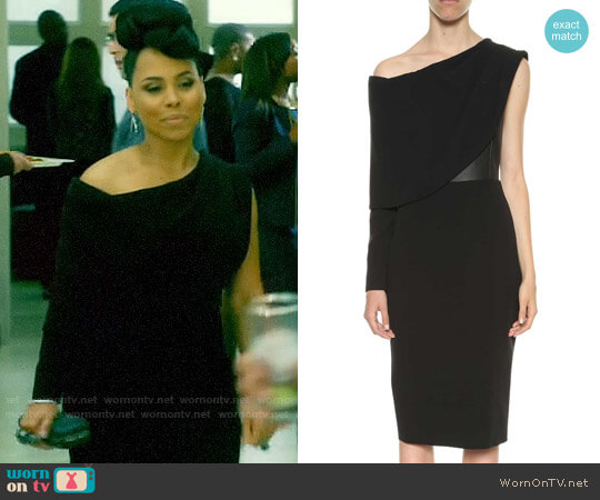 Tom Ford Cocktail Dress In Silk Crepe And Leather worn by Tegan Price (Amirah Vann) on HTGAWM