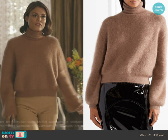 Cropped Turtleneck Sweater by Tom Ford worn by Cristal Flores (Nathalie Kelley) on Dynasty