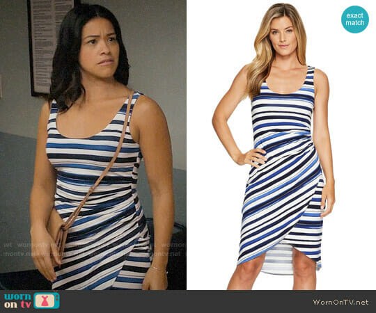 Tommy Bahama Aquarelle Stripe Sleeveless Midi Dress worn by Gina Rodriguez on Jane the Virgin