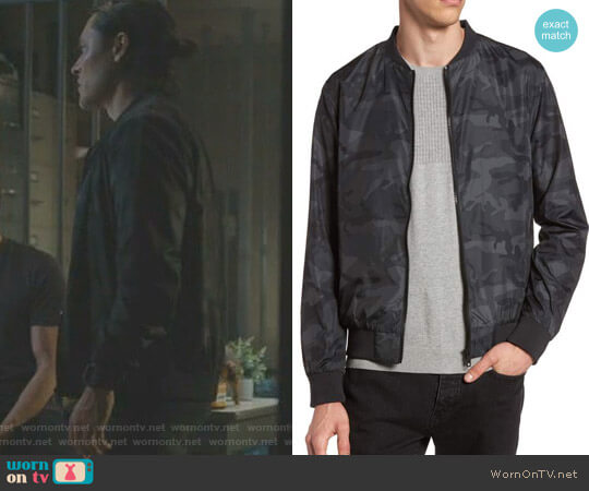 Camo Print Bomber Jacket by Topman worn by  John Proudstar (Blair Redford) on The Gifted