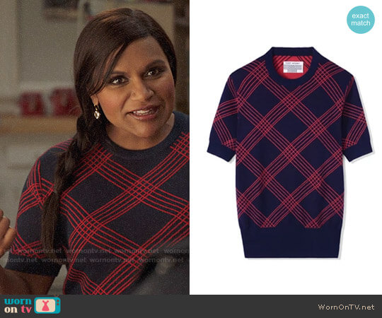 Tory Sport Performance Merino Short Sleeve Sweater worn by Mindy Kaling on The Mindy Project