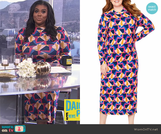 'Kindness' Dress by Tracee Ellis Ross for JCP worn by Nina Parker on E! News