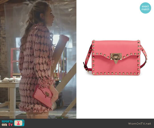 Rockstud Leather Crossbody Bag by Valentino Garavani worn by Elizabeth Gillies on Dynasty