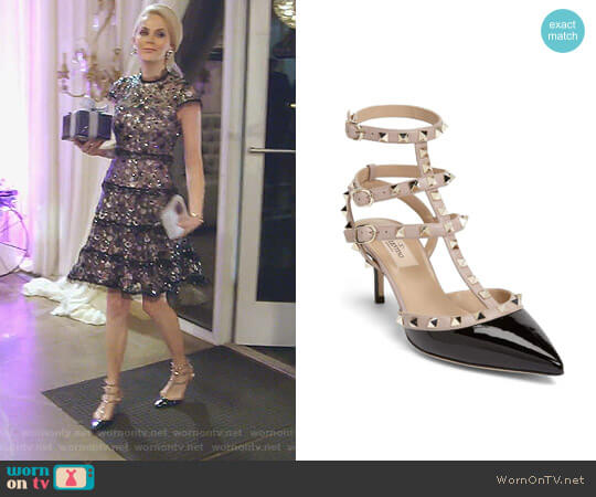 Rockstud Pointy Toe Pump by Valentino worn by Kameron Westcott  on The Real Housewives of Dallas