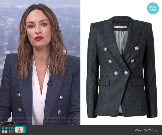 Miller Herringbone Jacket by Veronica Beard worn by Catt Sadler on E! News
