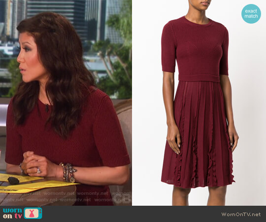 Knitted Flared Dress by Valentino worn by Julie Chen  on The Talk