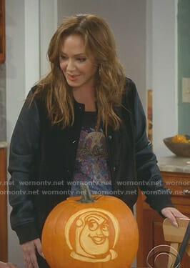 Vanessa's black velvet jacket on Kevin Can Wait