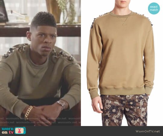 Studded Cotton Sweater by Versace worn by Bryshere Y. Gray on Empire