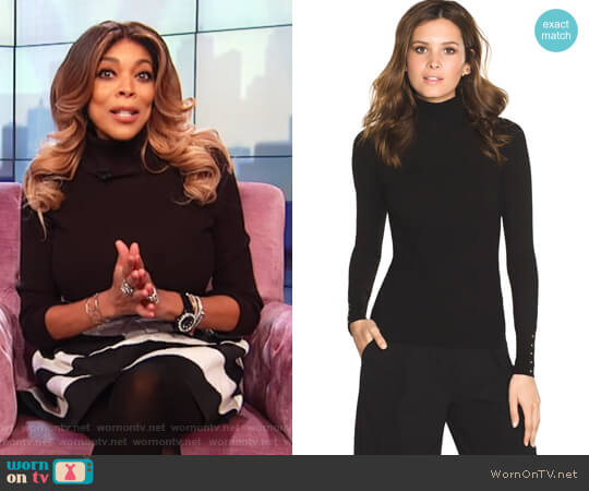 Long Sleeve Turtle Neck by White House Black Market worn by Wendy Williams  on The Wendy Williams Show