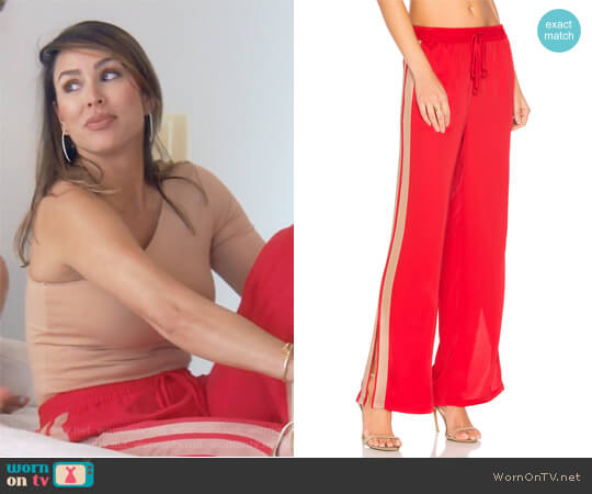 The Track Pant by L'Academie x Revolve worn by Kelly Dodd  on The Real Housewives of Orange County