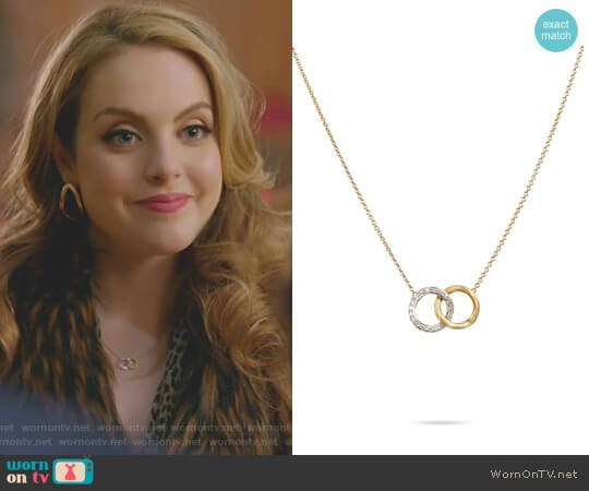 Yellow Gold & Diamond Circle Link Pendant by Marco Bicego worn by Elizabeth Gillies on Dynasty
