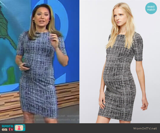 Bodycon Maternity Sheath Dress by A Pea in the Pod worn by Ginger Zee on Good Morning America