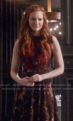 Abby's floral midi dress on Scandal