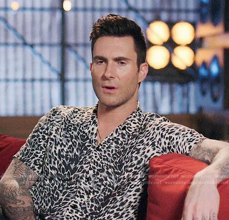 Adam Levine's leopard print shirt on The Voice