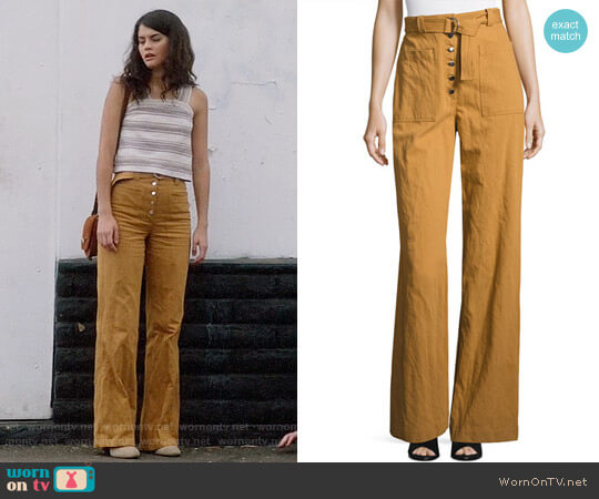 ALC Trek High-Waist Belted Wide-Leg Pants worn by Sofia Black D'Elia on The Mick