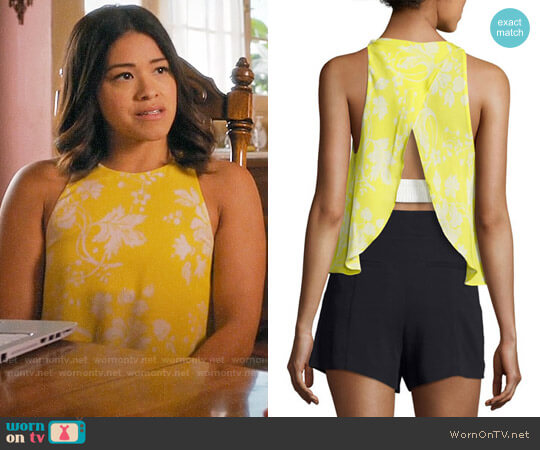 ALC Jasper Top worn by Gina Rodriguez on Jane the Virgin