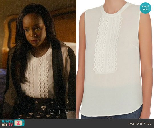 ALC Silvia Top worn by Aja Naomi King on HTGAWM