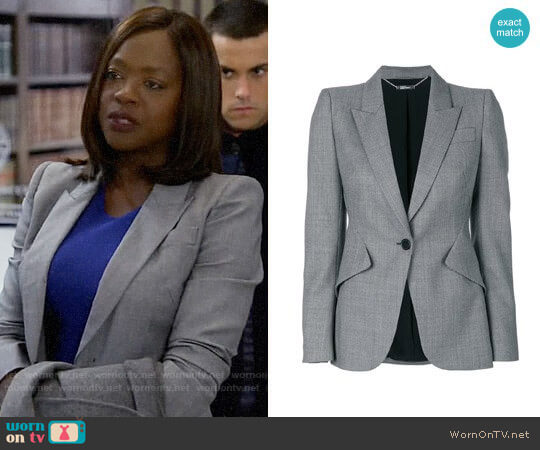Alexander McQueen Tailored Blazer  worn by Viola Davis on HTGAWM