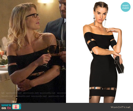 Alexander Wang Strapless Tee Dress worn by Felicity Smoak on Supergirl