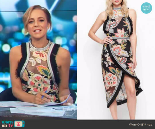 Dream Lover Top by Alice McCall worn by Carrie Bickmore (Carrie Bickmore) on The Project