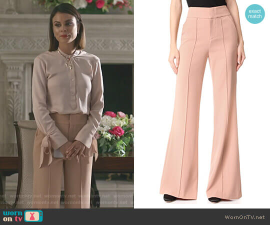 'Dawn' Pants by Alice + Olivia worn by Nathalie Kelley on Dynasty