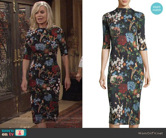 Alice + Olivia Delora Dress worn by Ashley Abbott (Eileen Davidson) on The Young & the Restless