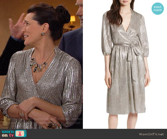 Alice + Olivia Katina Dress worn by Rena Sofer on The Bold & the Beautiful