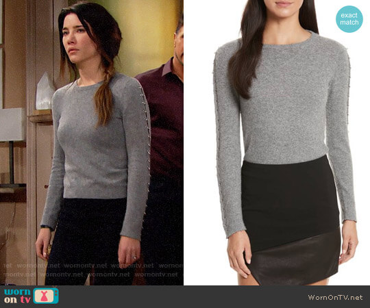 Alice + Olivia Sparrow Sweater worn by Steffy Forrester (Jacqueline MacInnes Wood) on The Bold & the Beautiful
