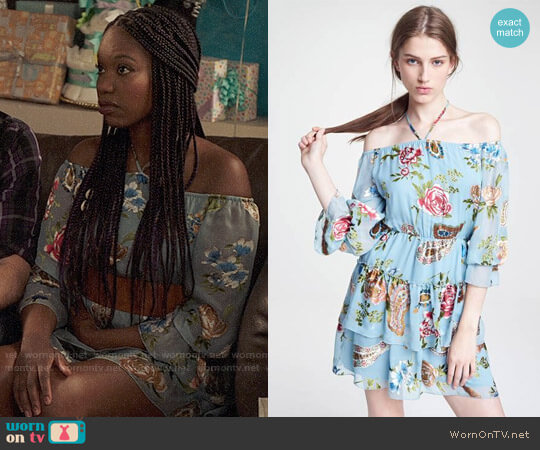 Alice + Olivia Waylon Dress worn by Tamra (Xosha Roquemore) on The Mindy Project
