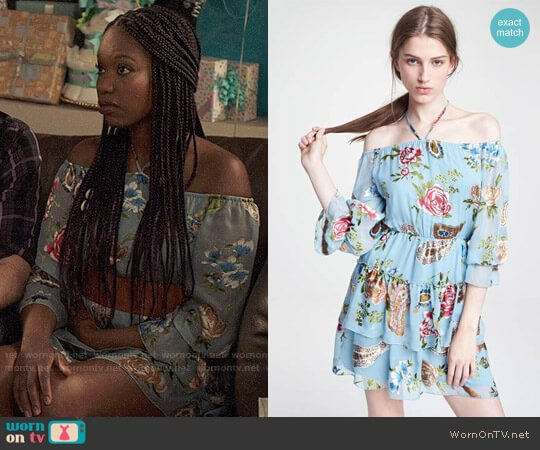Alice + Olivia Waylon Dress worn by Xosha Roquemore on The Mindy Project