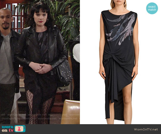 All Saints Riviera Flight Dress worn by Tessa Porter (Cait Fairbanks) on The Young & the Restless